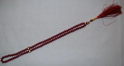 Gebetskette (Tasbih) - rot