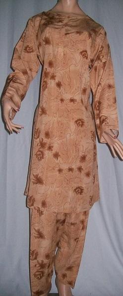 Salwar Kameez, bedruckt - braun