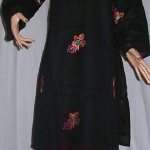Salwar Kameez (schwarz) bestickt S