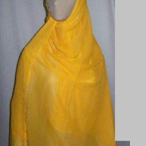 Schal/Kopftuch kräftiges gelb (Chiffon)
