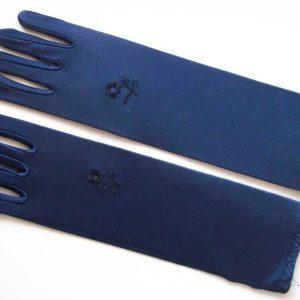 Stretch-Handschuhe blau
