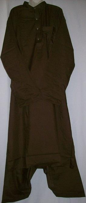 Schalwar Qamis, dunkelbraun XL