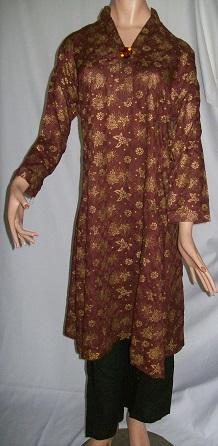 Salwar Kameez - golden bedruckt