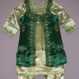 Festlicher Salwar Kameez - hellgrün dunkelgrün