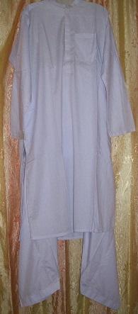 Schalwar Qamis, weiß XL