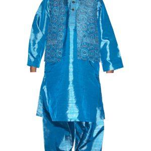 festlicher Salwar Kameez mit Weste Größe 20