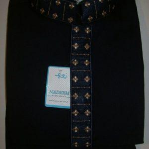 Salwar Kameez mit Stickerei - schwarz Größe 26