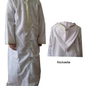 Abaya, weiß - 105 cm Länge