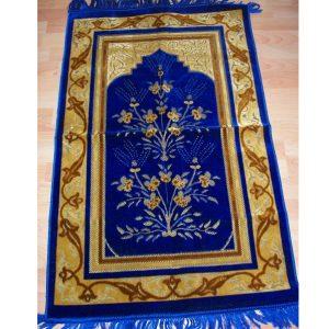 Gebetsteppich blau mit Blumen