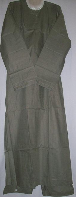 zweiteiliger Anzug nach emiratischer Art XL - olivegrün