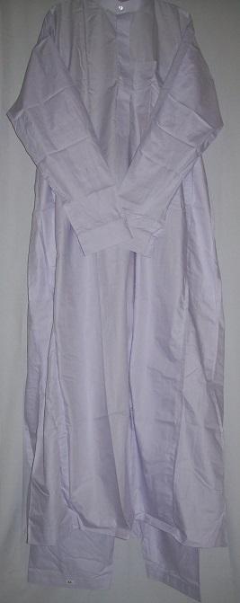 zweiteiliger Anzug mit Stehkragen XL weiß