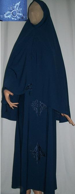Dreiteiliges Burkaset blau L - 146 cm Länge