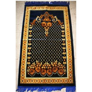 Gebetsteppich dunkelblau/braun