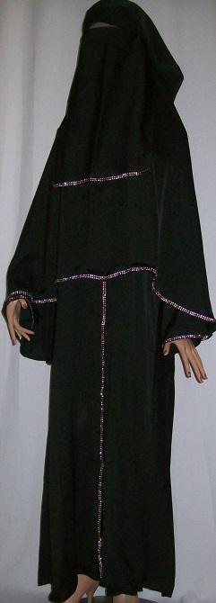 Dreiteiliger Burka S -136 cm Länge