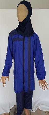 Burkini Größe XL - blau