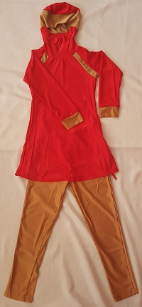Burkini - Rot Goldbraun