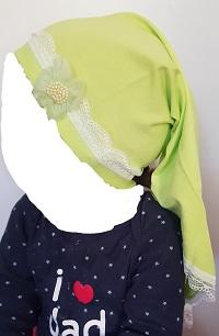 Kopftuch - Grün mit Verziehung