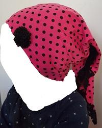 Kopftuch - Rosa mit Punkte