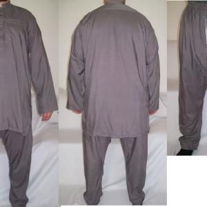 Hemd und Hose - graubraun - M
