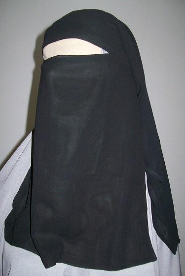 Niqaab - 2-teilig - schwarz