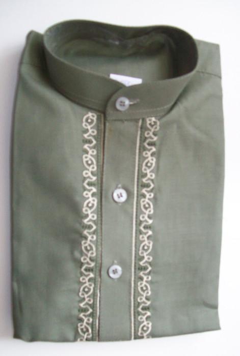 Salwar Kameez mit Stickerei - grün Größe 22