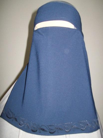 Niqaab - einfach - blau