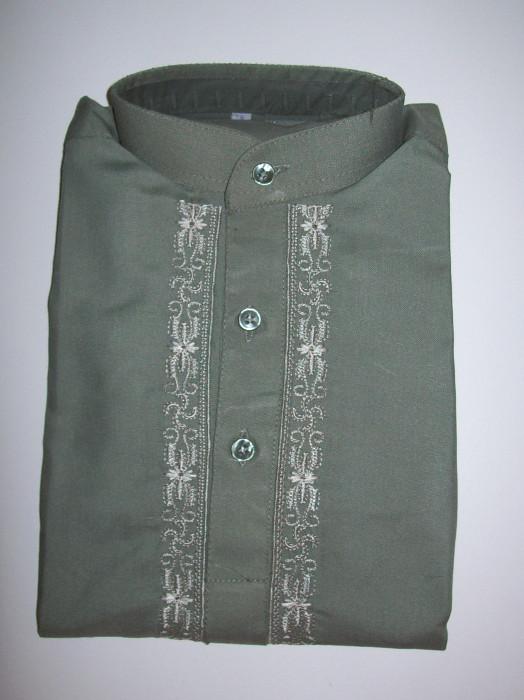 Salwar Kameez mit Stickerei - grün Größe 18